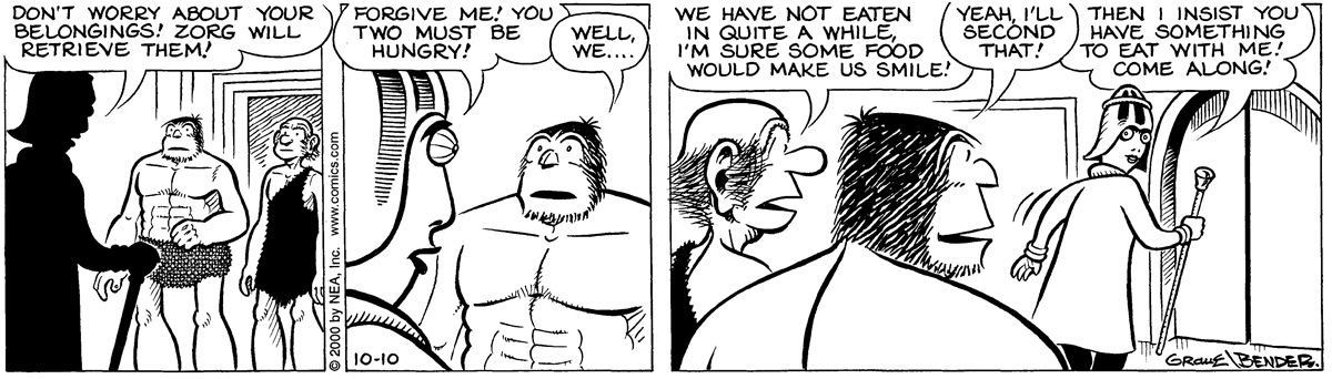 Alley Oop for Oct 10, 2000 Comic Strip