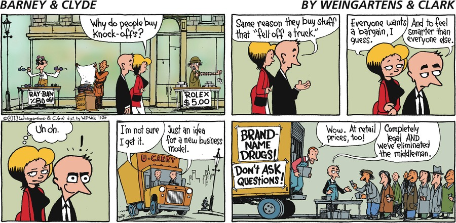 Barney & Clyde Comic Strip for November 24, 2013