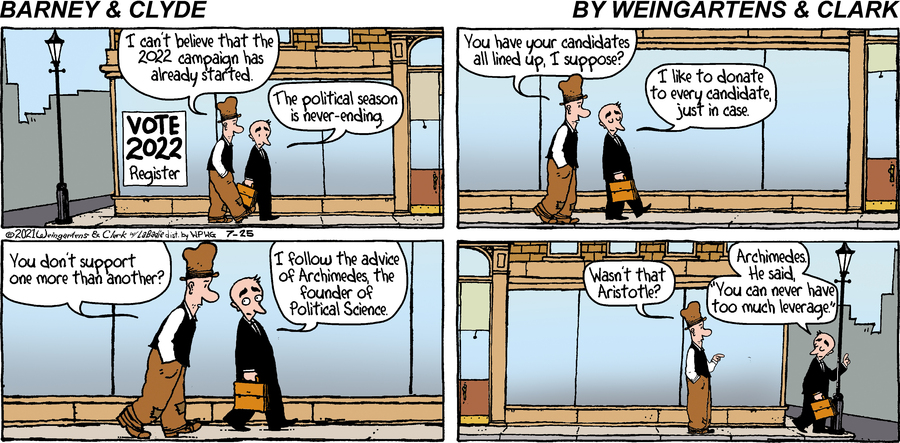 Barney & Clyde Comic Strip for July 25, 2021