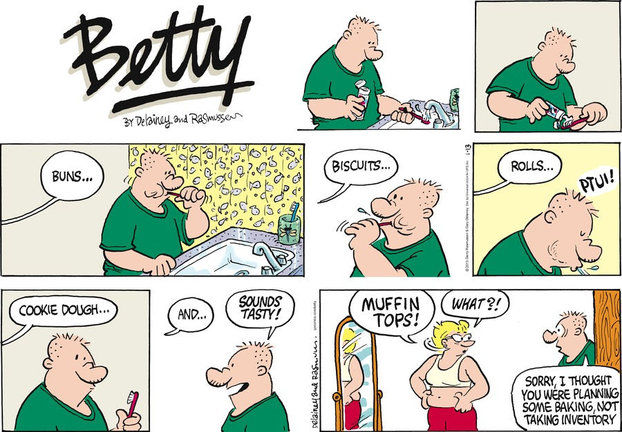 Betty Comic Strip for January 13, 2013