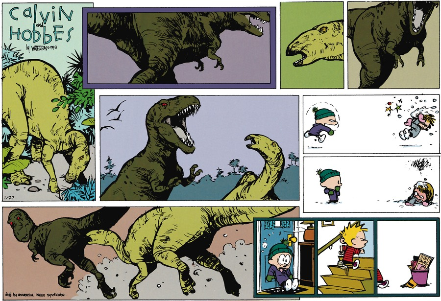 Calvin and Hobbes Comic Strip for January 27, 2013