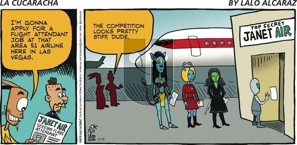 La Cucaracha on Sunday February 18, 2018 Comic Strip