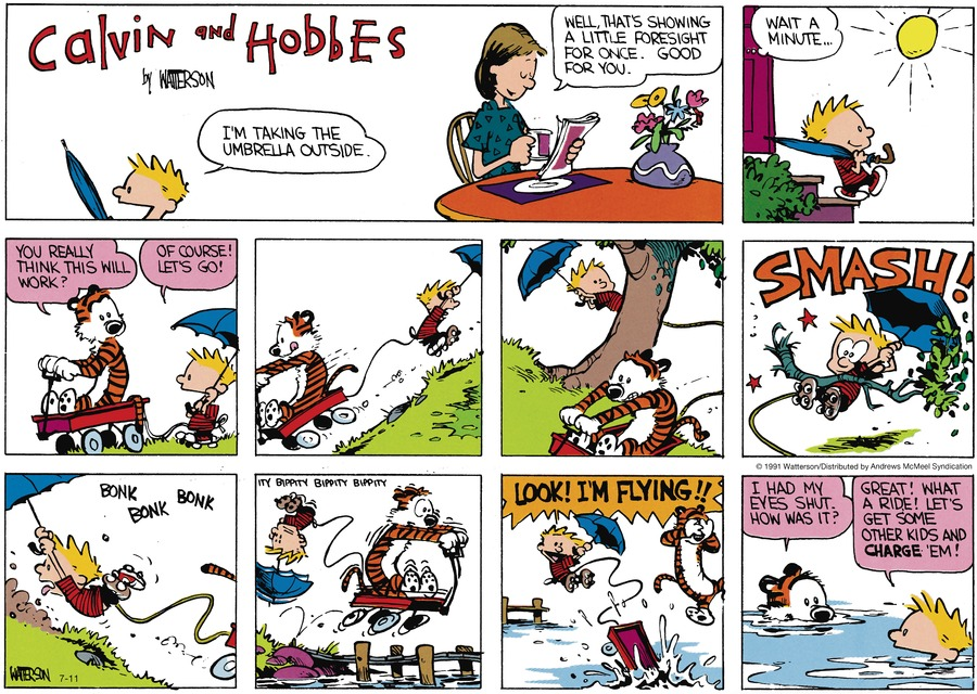 Calvin and Hobbes Comic Strip for July 11, 2021