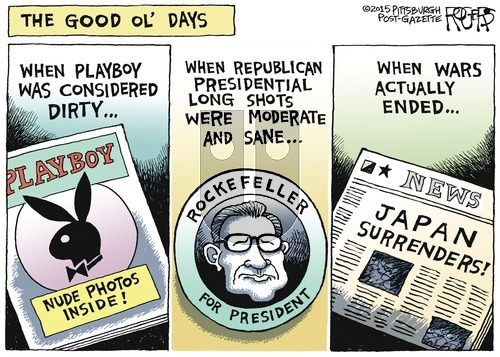Rob Rogers on Sunday October 18, 2015 Comic Strip