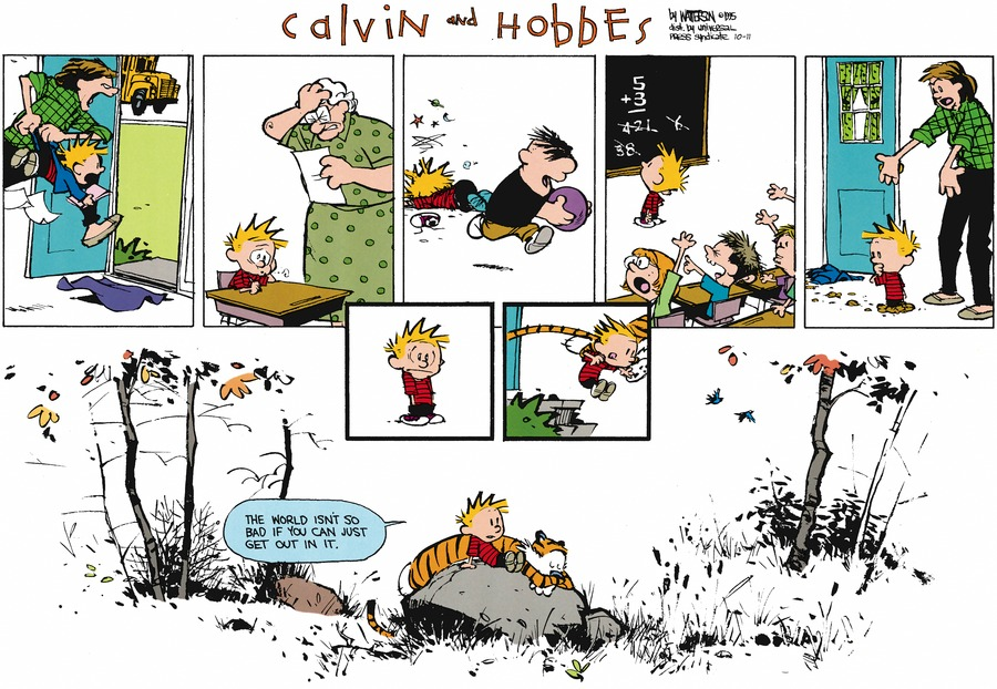 Calvin and Hobbes Comic Strip for October 11, 2015