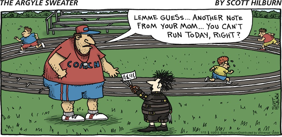 The Argyle Sweater for Jan 13, 2013 Comic Strip