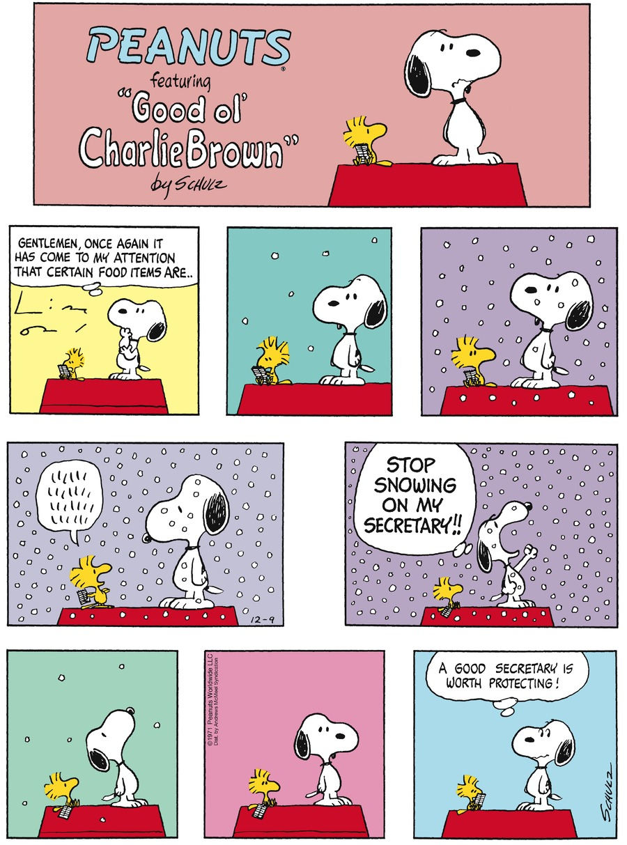 Peanuts by Charles Schulz for December 09, 2018