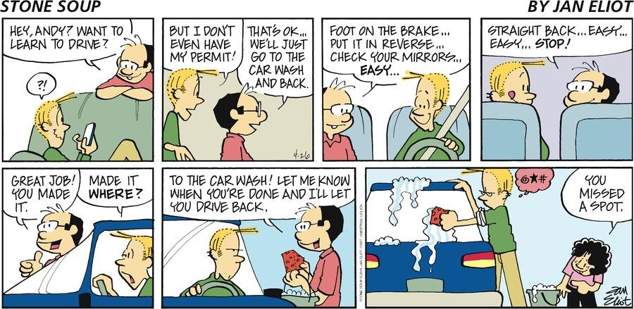 Stone Soup Comic Strip for April 26, 2015
