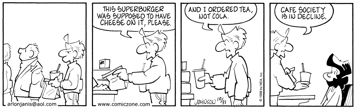 Arlo and Janis for Oct 31, 1998 Comic Strip