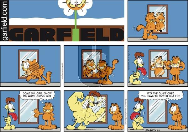 Garfield on Sunday March 11, 2018 Comic Strip