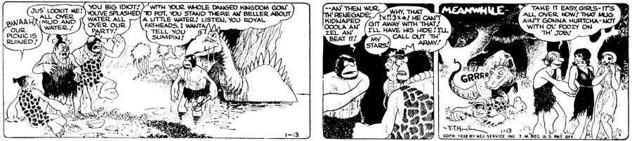 Alley Oop Comic Strip for January 13, 1939