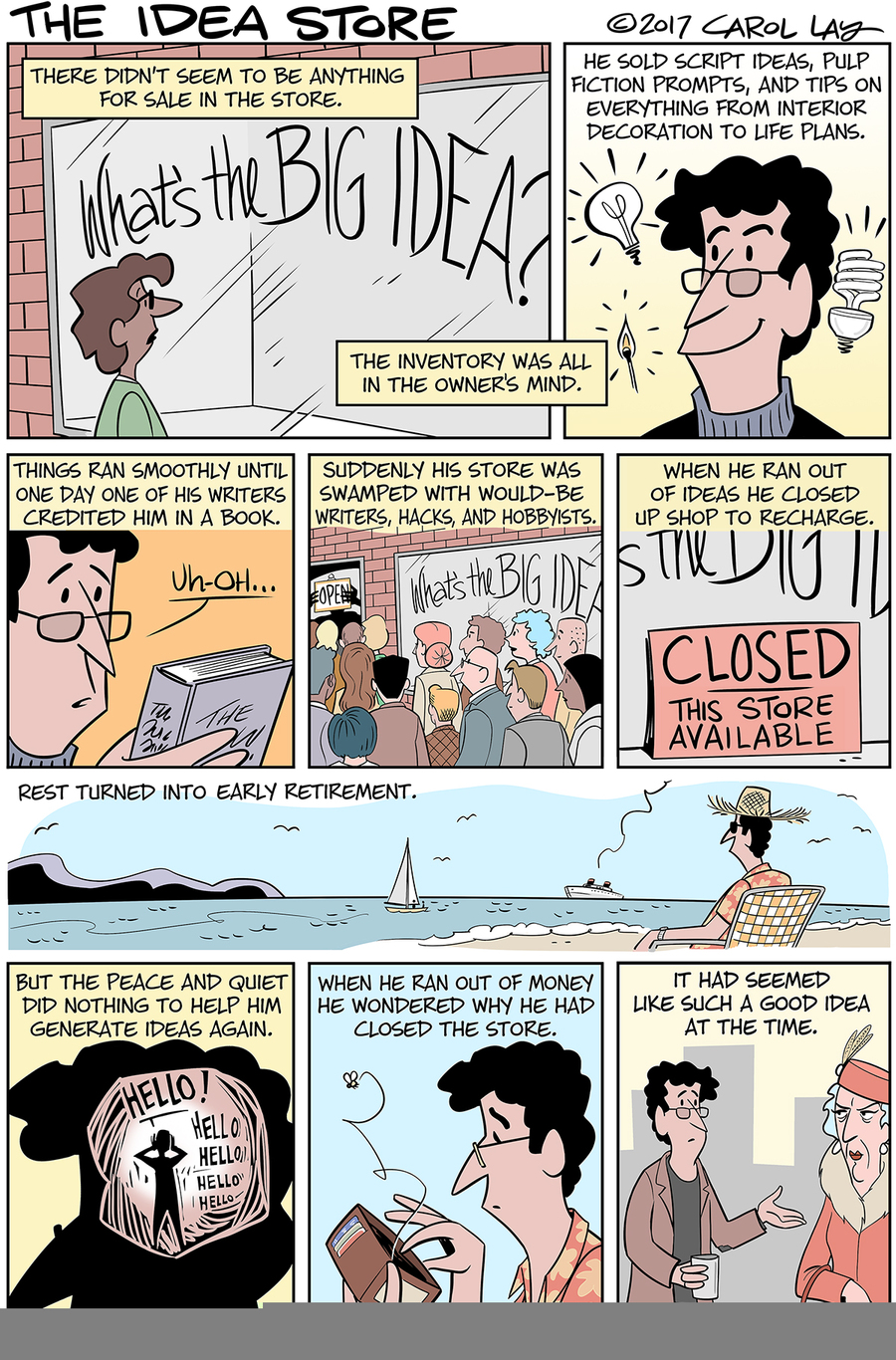 Lay Lines Comic Strip for March 17, 2017