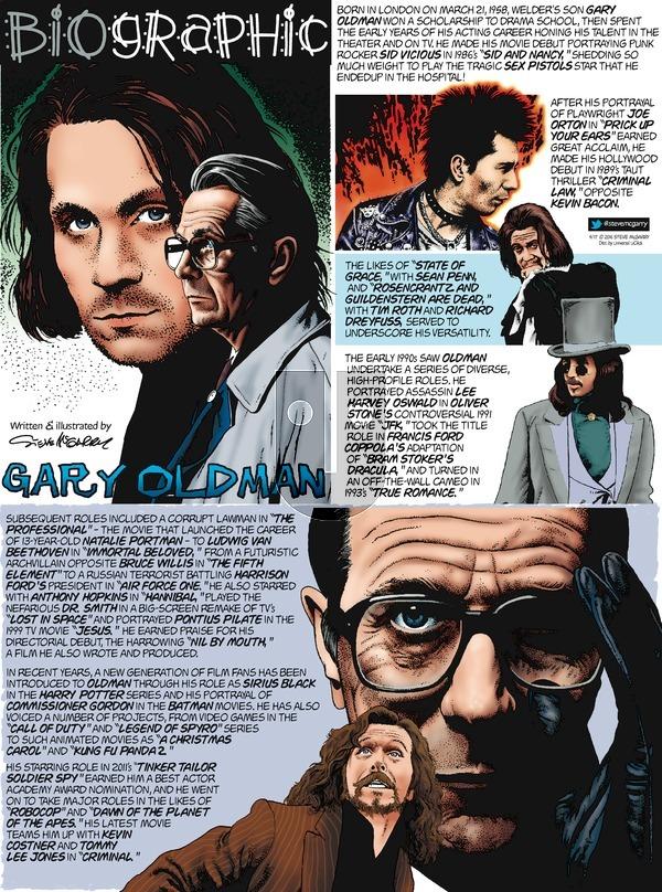 Biographic on Sunday April 17, 2016 Comic Strip