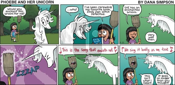 Phoebe and Her Unicorn on Sunday September 22, 2019 Comic Strip