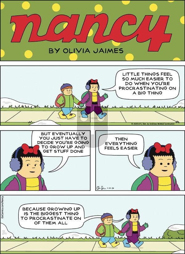 Nancy - Sunday January 19, 2020 Comic Strip