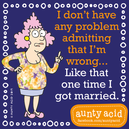 Aunty Acid by Ged Backland for September 11, 2019