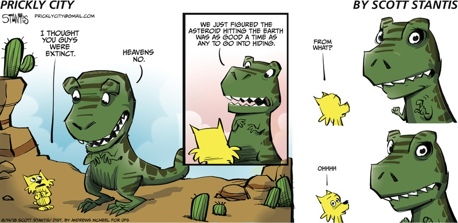 Prickly City Comic Strip for August 19, 2018