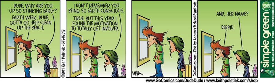 Dude and Dude Comic Strip for April 24, 2019