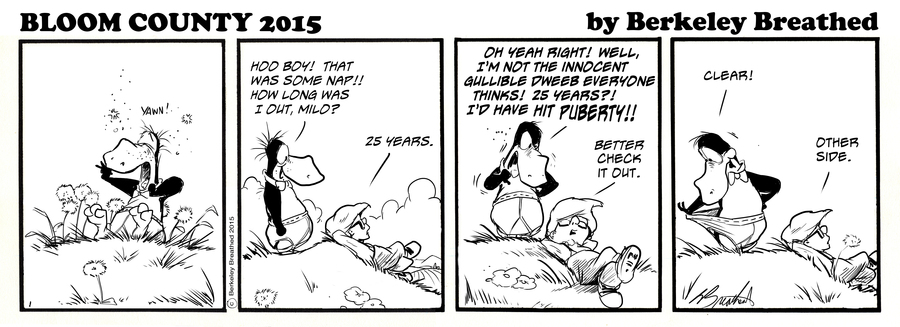 Bloom County 2019 Comic Strip for July 20, 2015