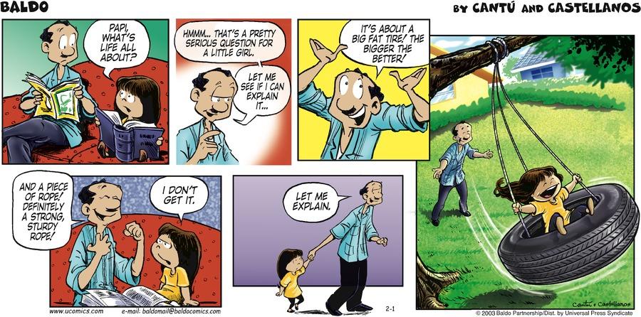 Baldo for Feb 1, 2009 Comic Strip