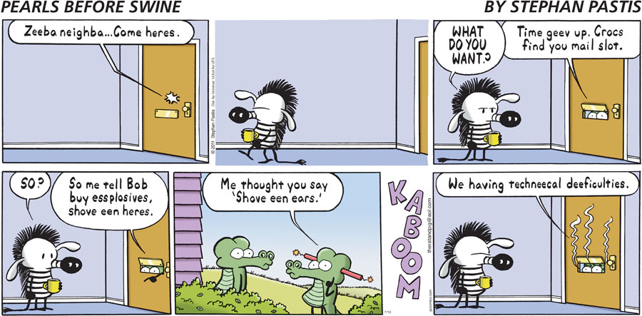 Pearls Before Swine Comic Strip for July 10, 2011