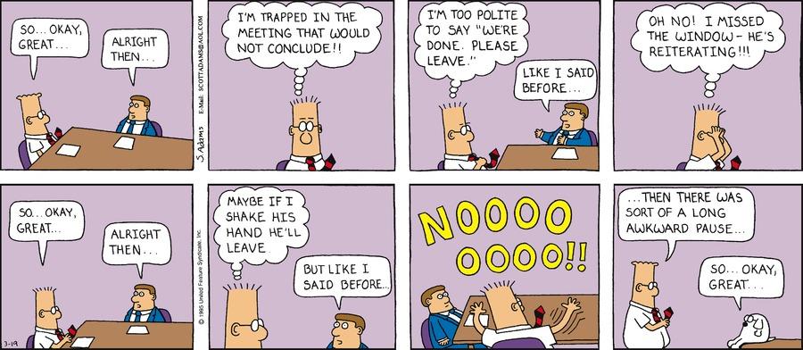 Dilbert Classics Comic Strip for February 17, 2019