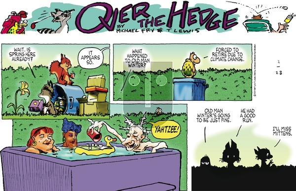 Over the Hedge on Sunday February 28, 2021 Comic Strip