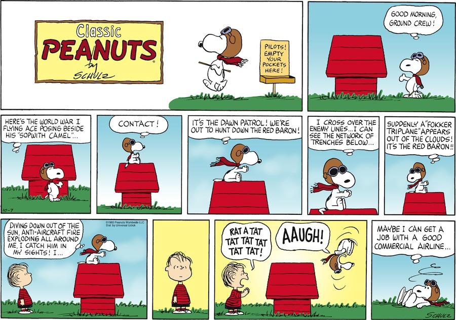 Peanuts Comic Strip for October 07, 2012