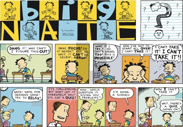 Big Nate on Sunday March 18, 2018 Comic Strip