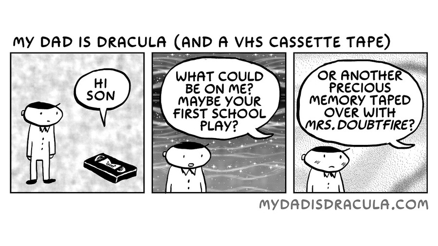 My Dad is Dracula Comic Strip for August 04, 2020