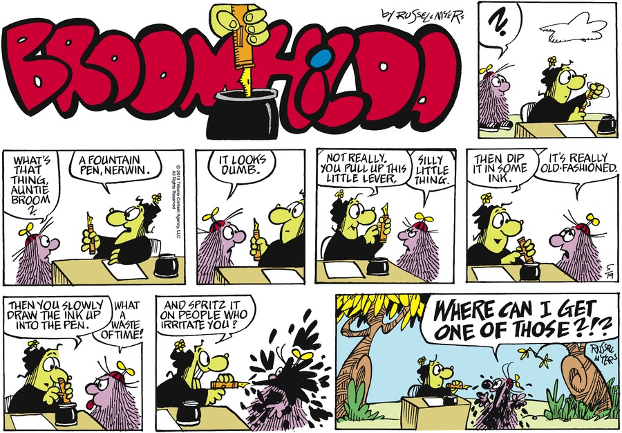 Broom Hilda by Russell Myers for May 19, 2019