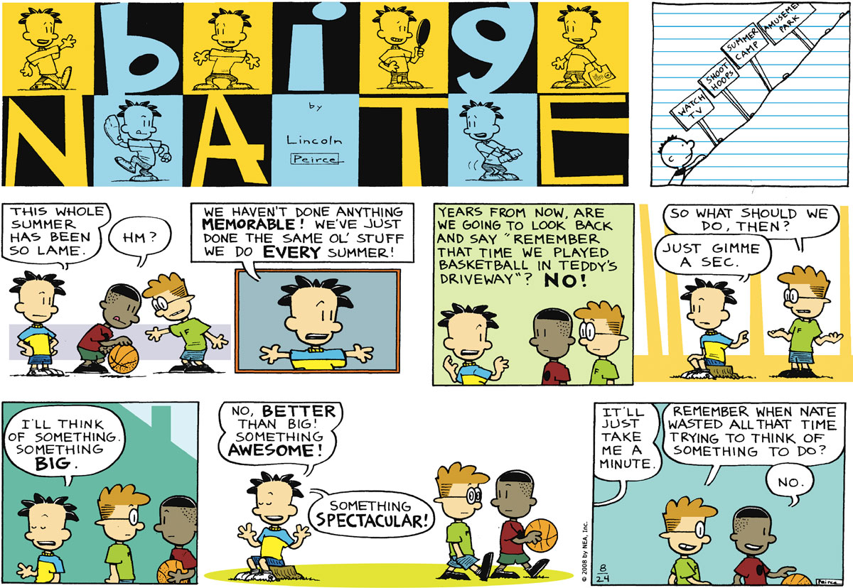 Big Nate Comic Strip for August 24, 2008