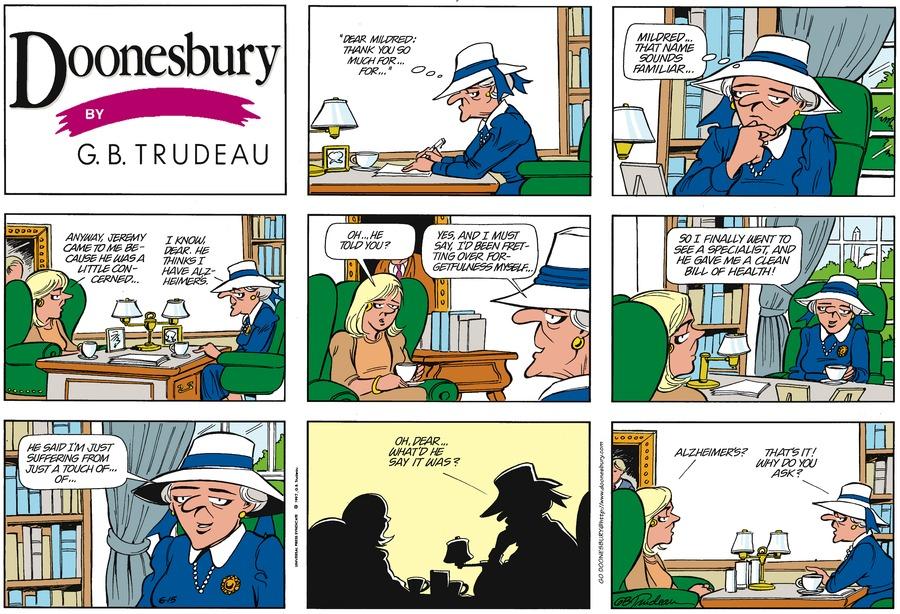 Doonesbury Comic Strip for June 15, 1997