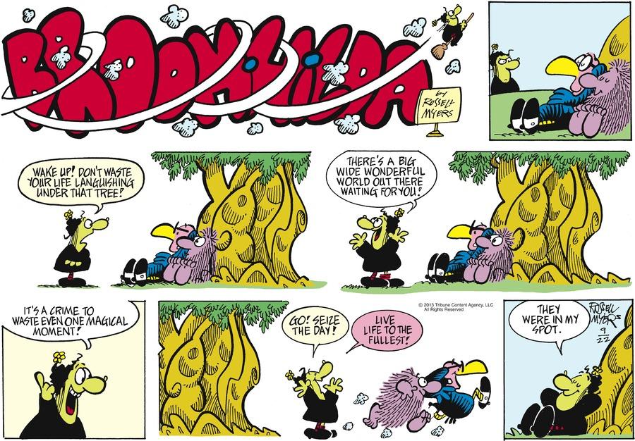Broom Hilda for Sep 22, 2013 Comic Strip