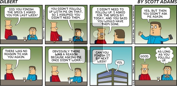 Dilbert - Sunday December 16, 2018 Comic Strip