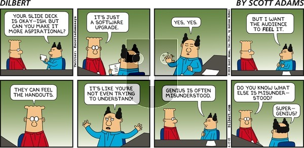 Dilbert on Sunday June 17, 2018 Comic Strip