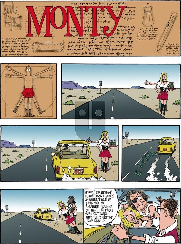 Monty on Sunday April 7, 2019 Comic Strip