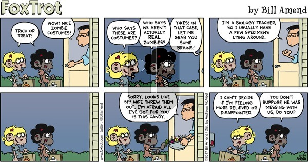 FoxTrot on Sunday October 29, 2017 Comic Strip