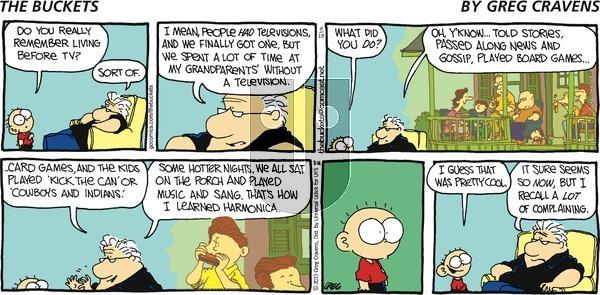 The Buckets on Sunday August 18, 2013 Comic Strip