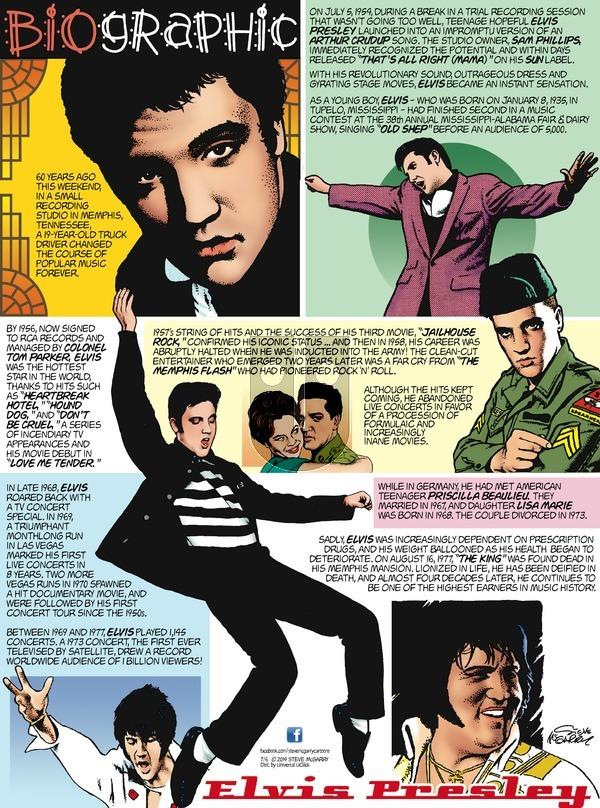 Biographic on Sunday July 6, 2014 Comic Strip