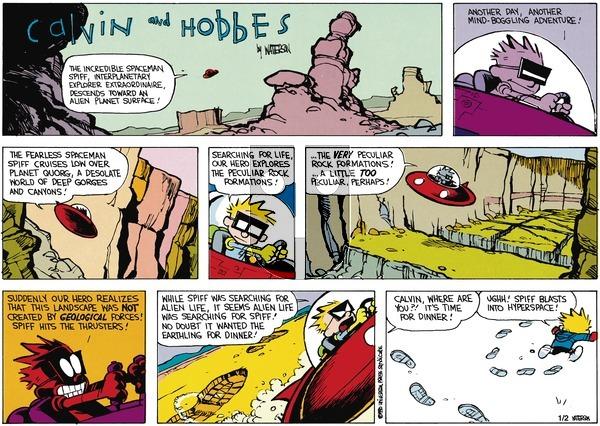 Calvin and Hobbes on Sunday February 18, 1990 Comic Strip