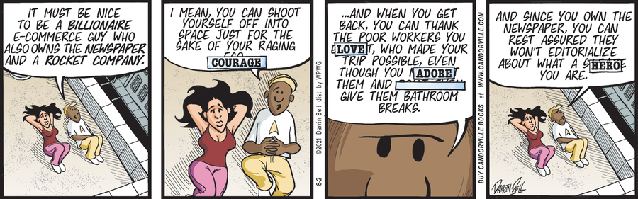 Candorville Comic Strip for August 02, 2021