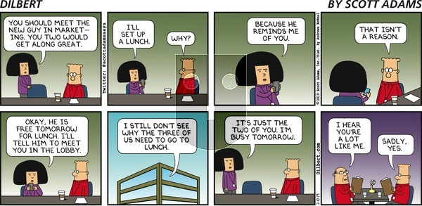 Dilbert on Sunday February 10, 2019 Comic Strip