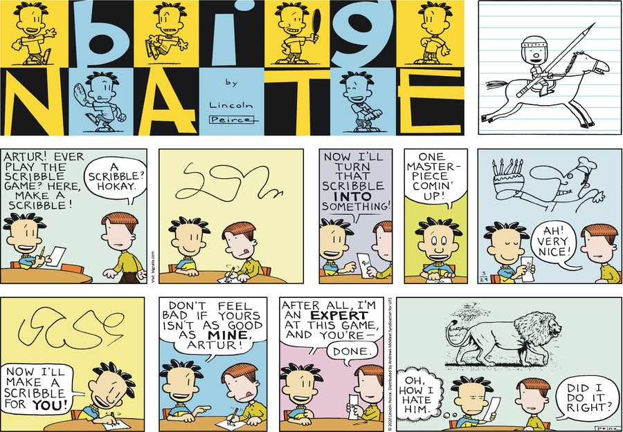 Big Nate Comic Strip for March 29, 2020
