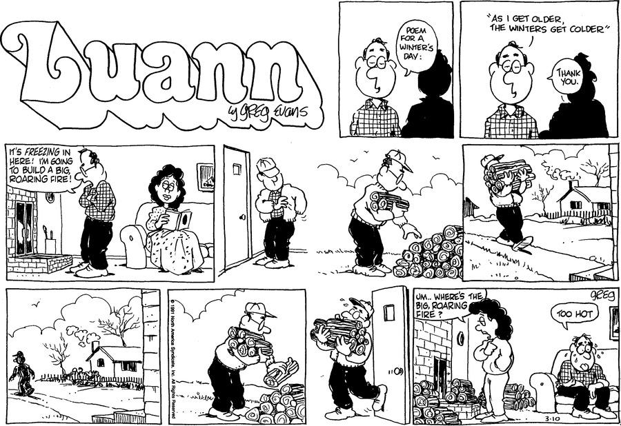 Luann Againn by Greg Evans for March 10, 2019