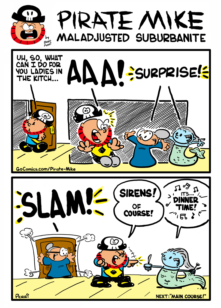Pirate Mike Comic Strip for February 14, 2020