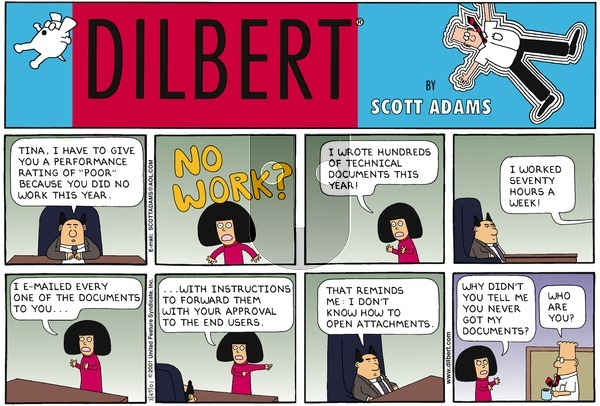 Dilbert - Sunday March 25, 2001 Comic Strip