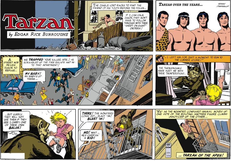 Tarzan Comic Strip for May 30, 2021
