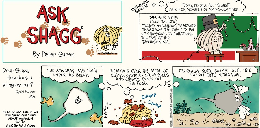 Ask Shagg Comic Strip for November 25, 2018
