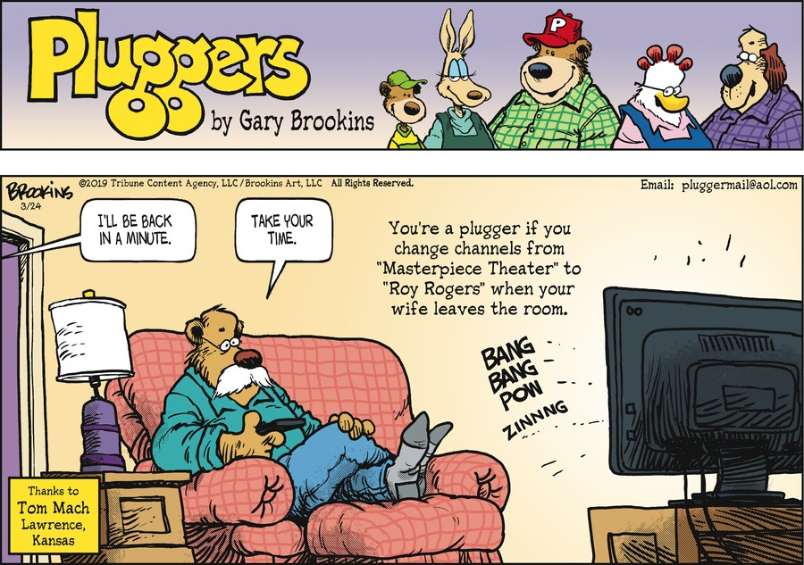 Pluggers Comic Strip for March 24, 2019